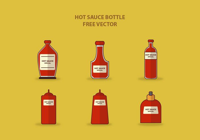 HOT SAUCE BOTTLE FREE VECTOR