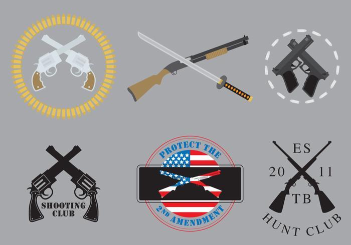 Crossed Guns Vectors