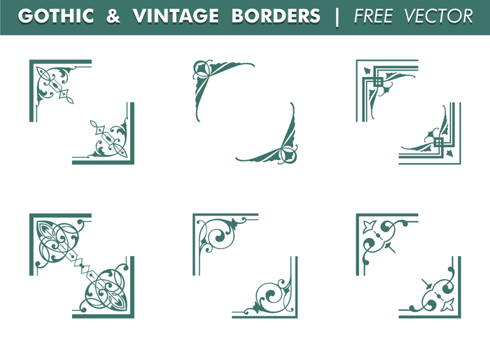 Gothic & Vintage Borders Vector