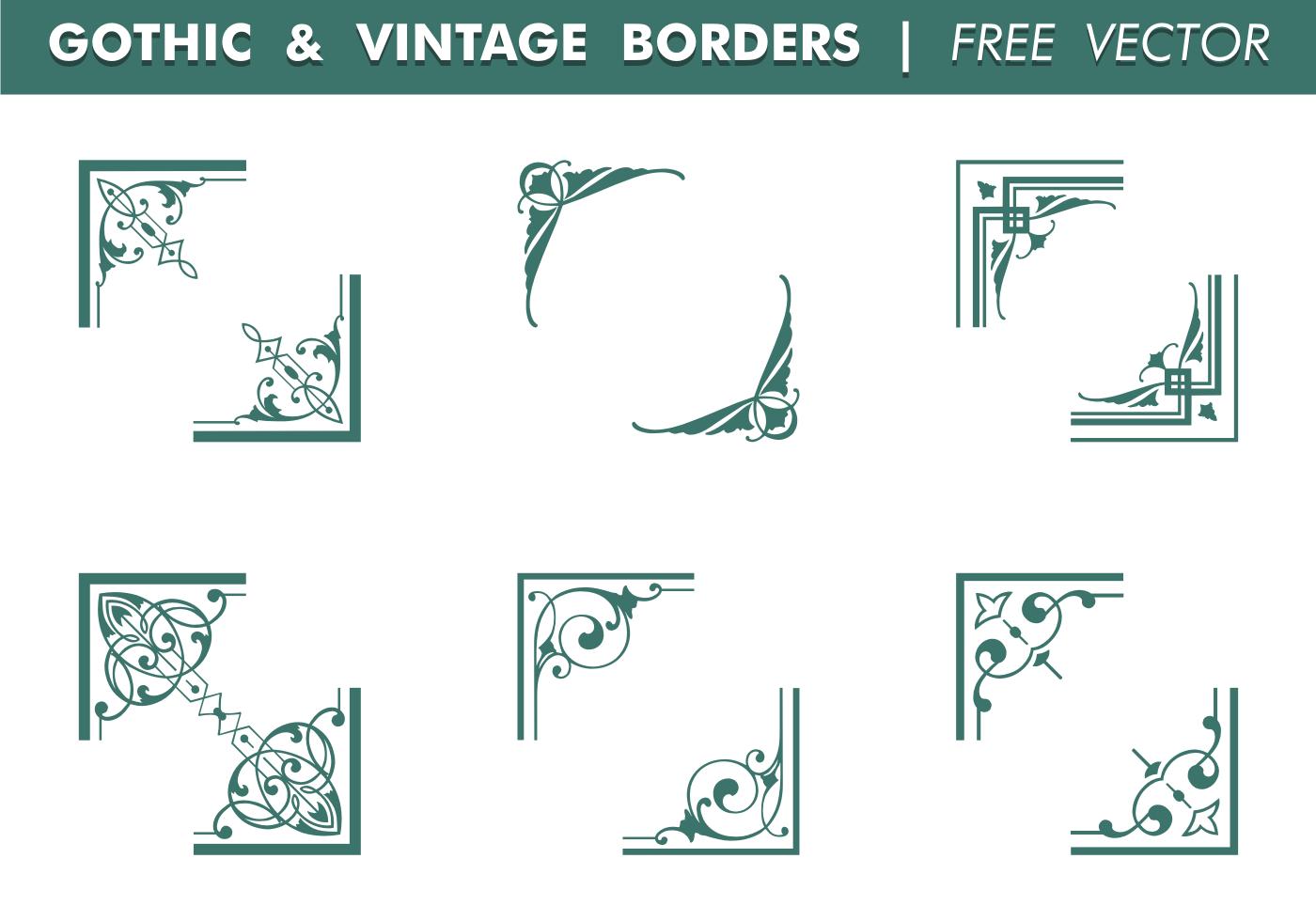 Gothic & Vintage Borders Vector - Download Free Vector Art ...