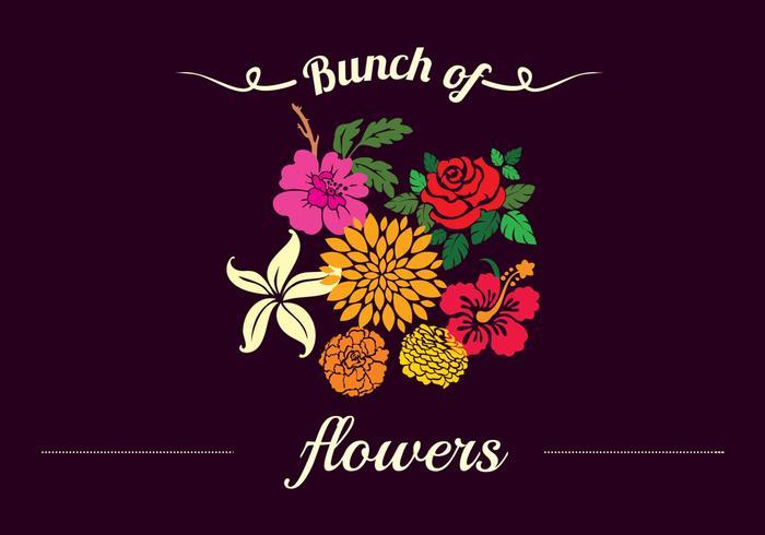 Fundo floral decorativo