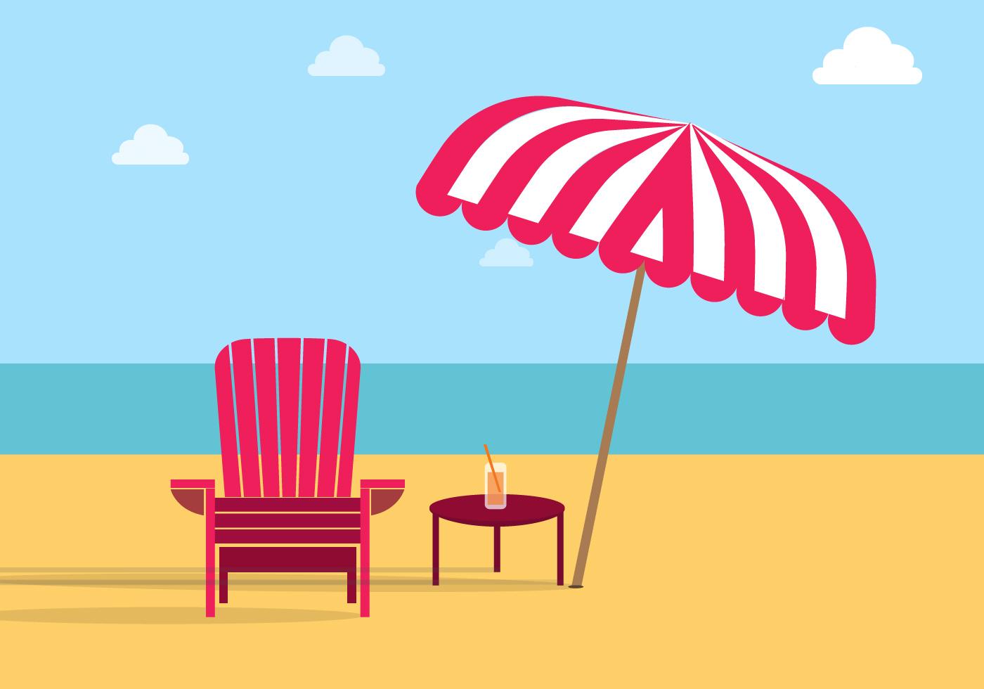 Adirondack Chair Beach Free Vector Download Free Vector