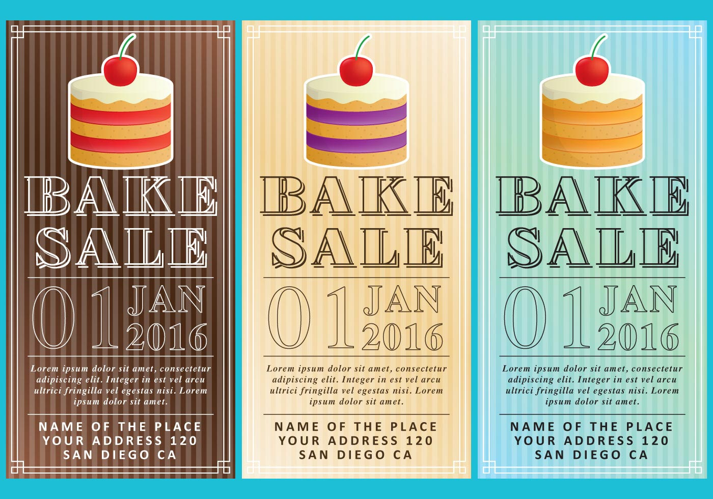 Bake Sale Flyers Download Free Vector Art Stock