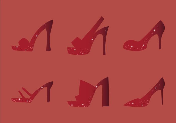 Free Ruby Shoes Vector Illustration