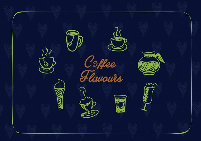 Creative coffee icons vector