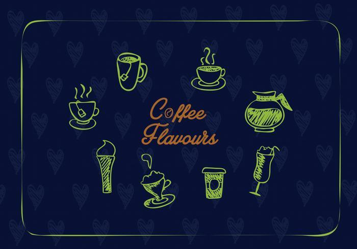Vector de iconos de café creativo