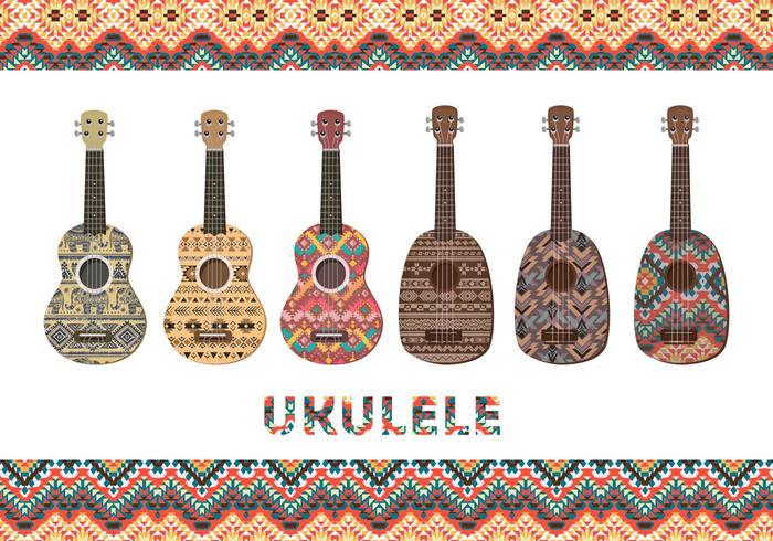 Ukulele with patterns