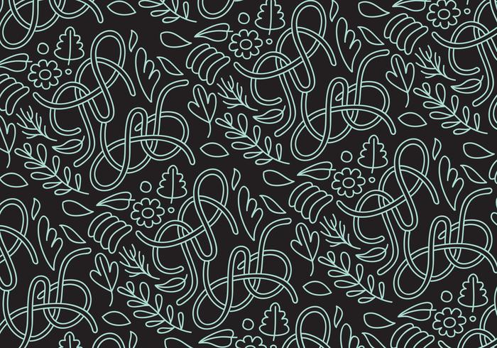Abstract nature outline pattern