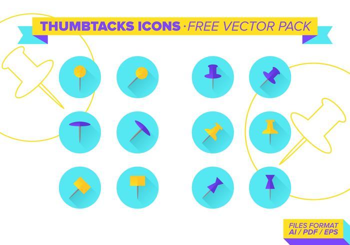 Thumbtacks Icons Free Vector Pack