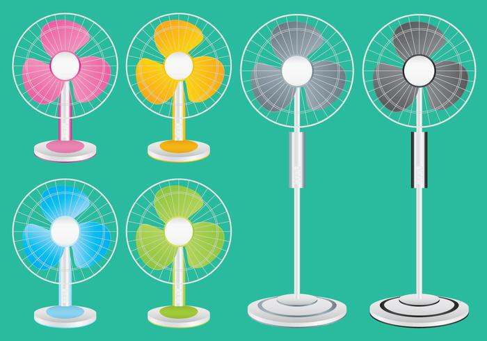 Colorido ventilador vectores