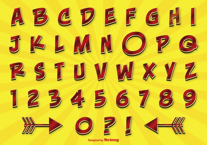 Komisk stil alfabetet set