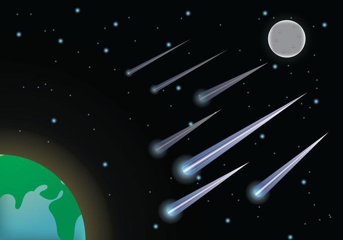 Vector de lluvia de meteoros