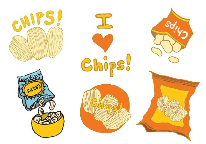 Free Bag of Chips Vector Series