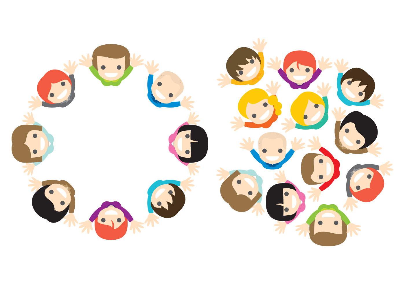 Vector People From Above Download Free Art Stock