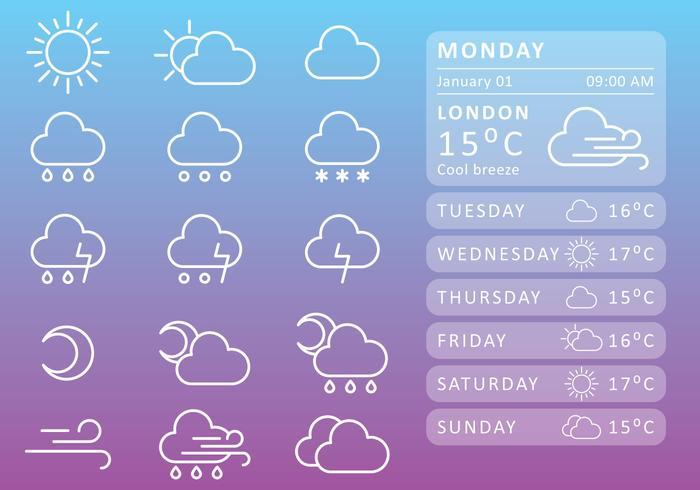Weather Widget - Download Free Vectors, Clipart Graphics