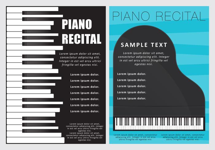 Piano Recital Folletos - Descargue Gráficos y Vectores Gratis