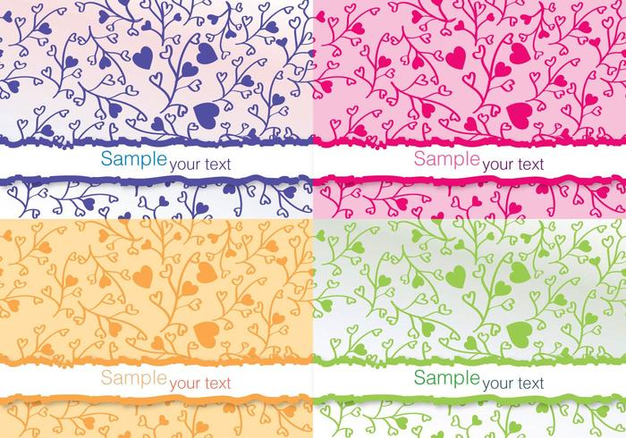Colourful Flower Vector Cards