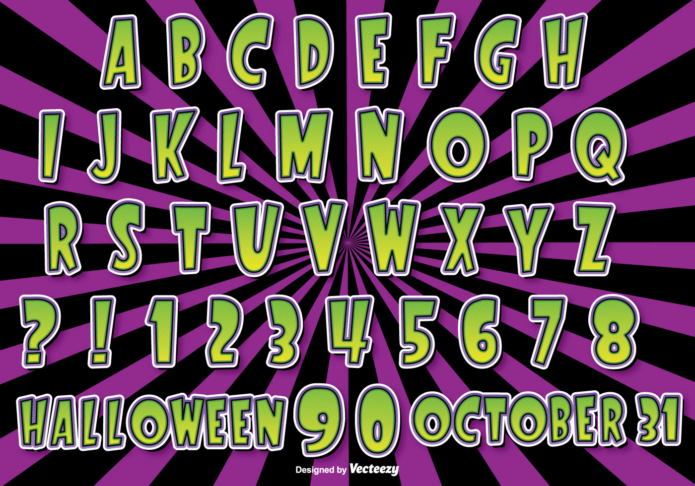halloween alphabet set download free vector art stock
