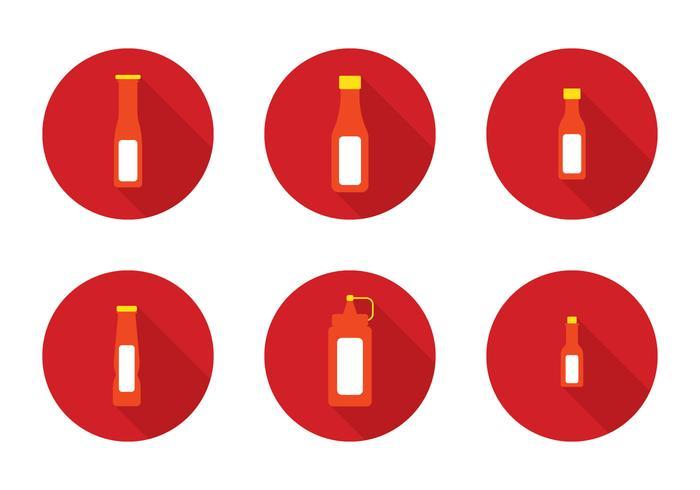 Botella de salsa caliente Vector