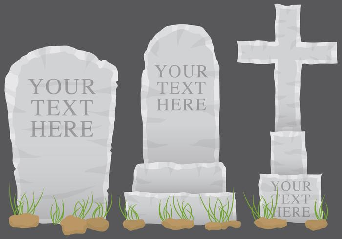 Grey Tombstone Vectors
