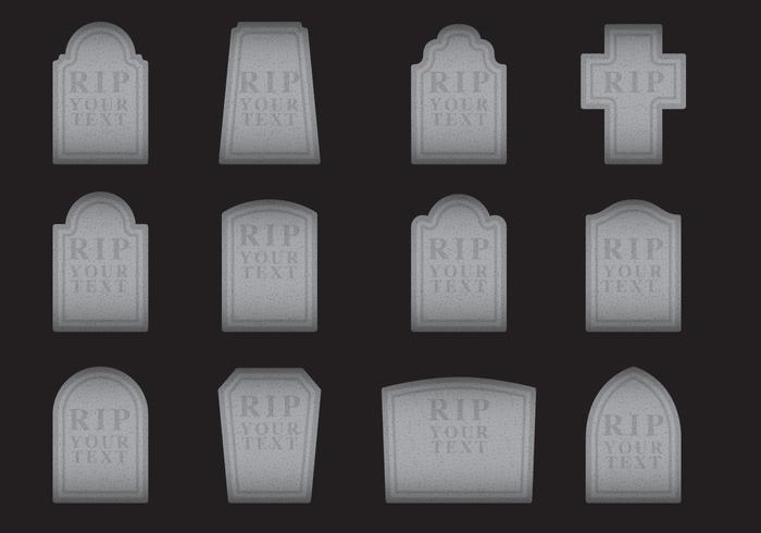 Vecteurs de pierres tombales vecteur
