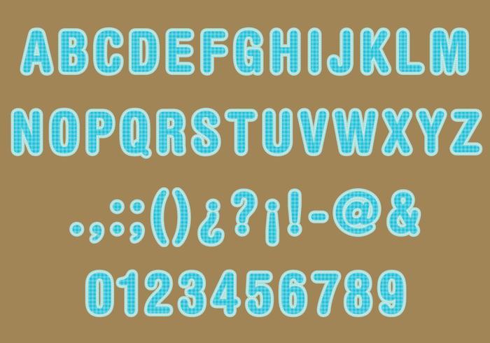 Sack Texture Font Vector