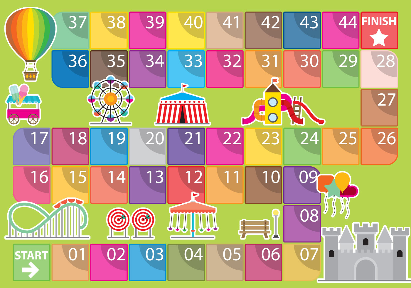 Amusement Park Game Vector Template Download Free Vector