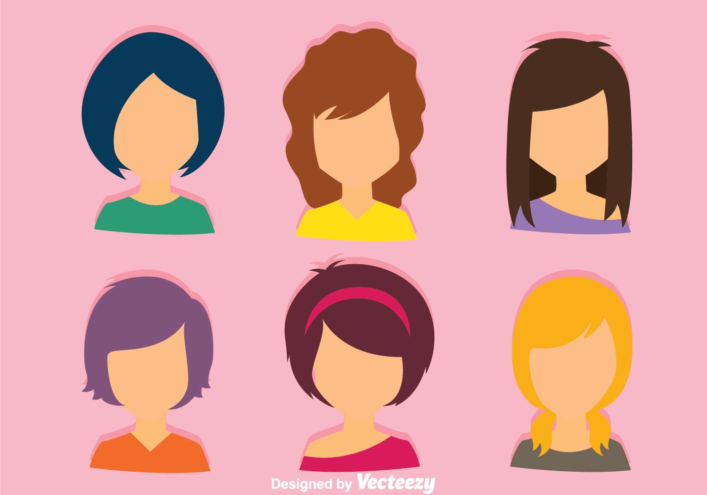female portrait free vector art