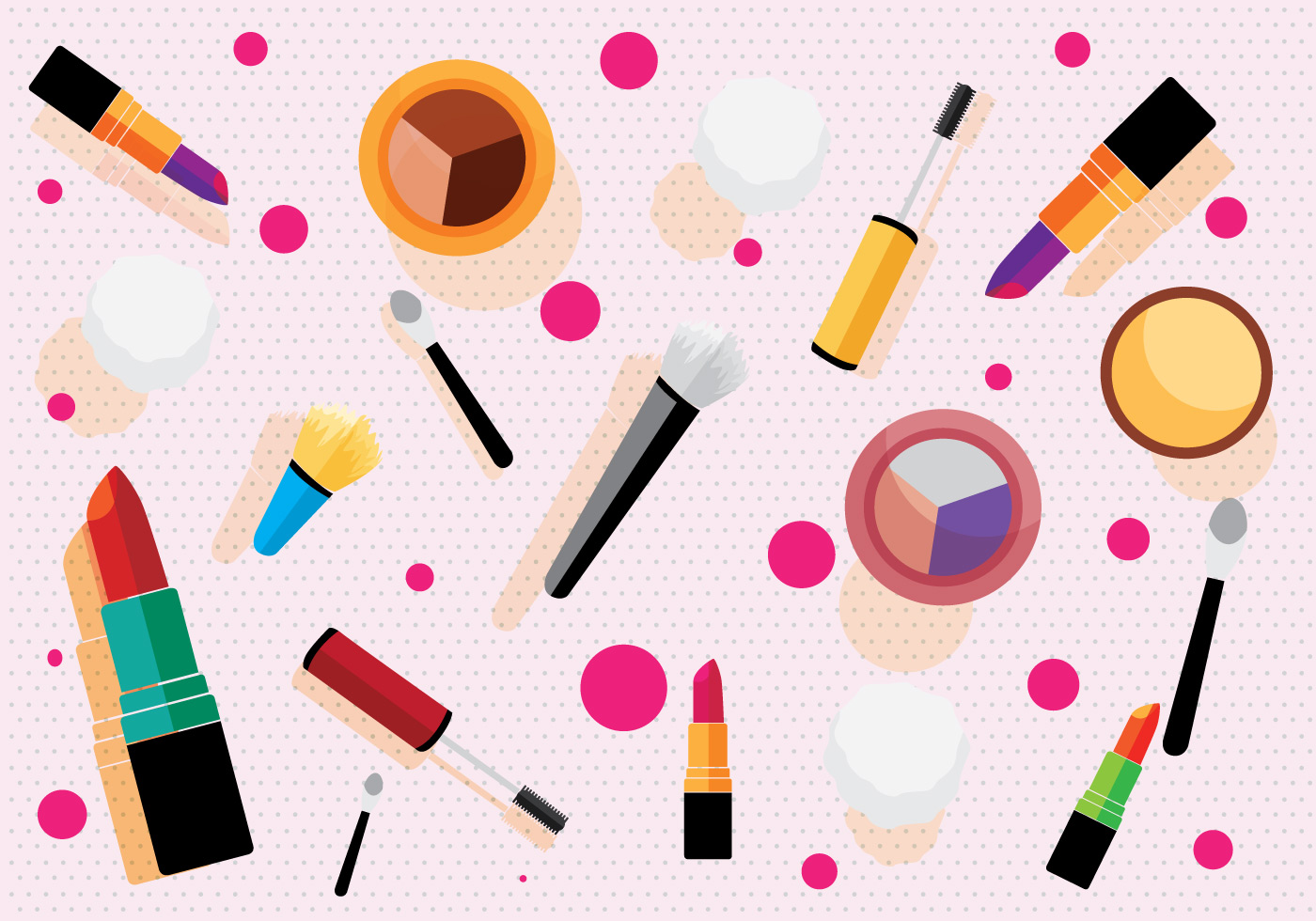 Makeup pattern vector download free vector art stock for Make 3d design online