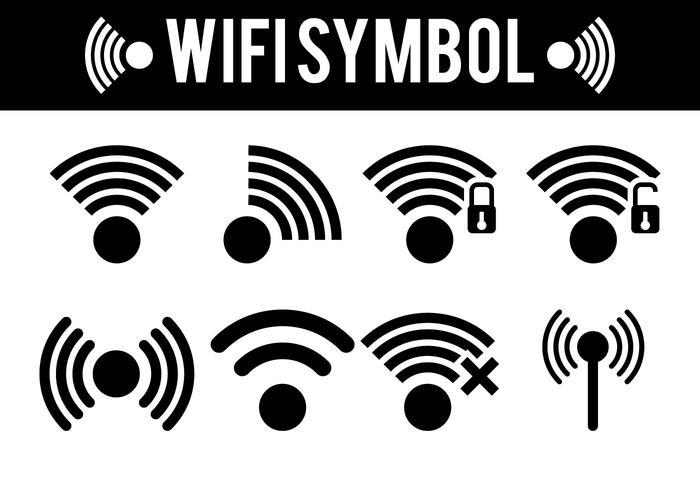 Vetores de símbolos Wifi
