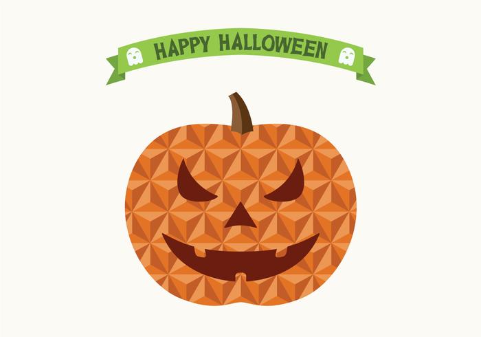 Flat Geometric Halloween Jack O Lantern Pumpkin