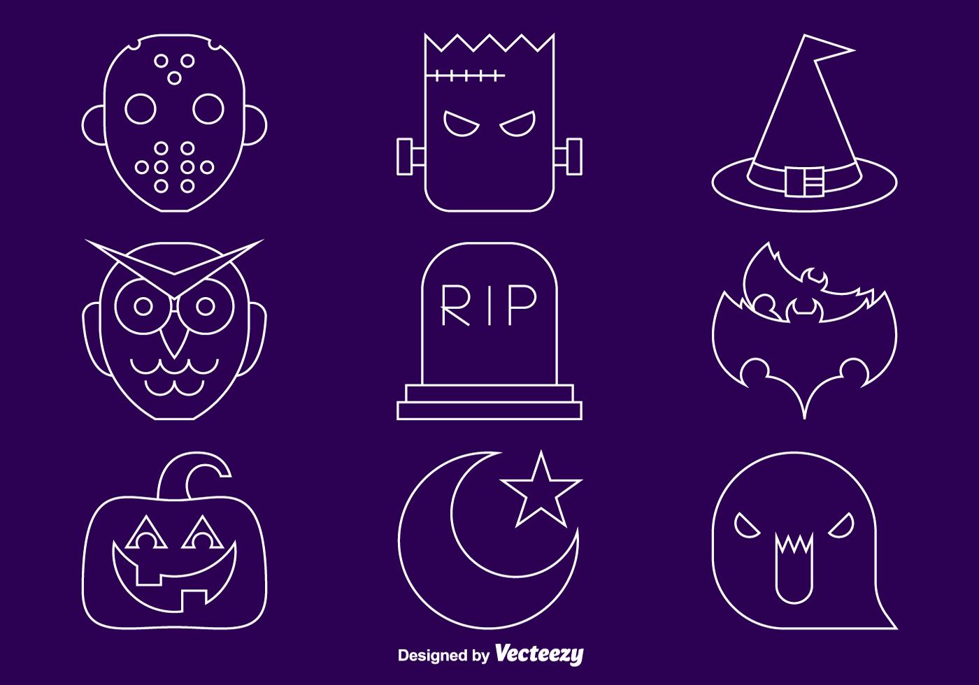 Halloween line icons - Download Free Vectors, Clipart ...