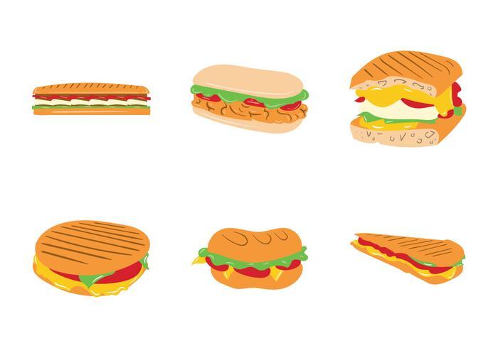 Gratis Panini Sandwich Vector Illustratie