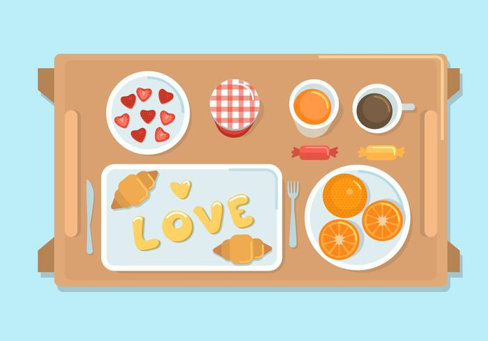 Breakfast in bed vector