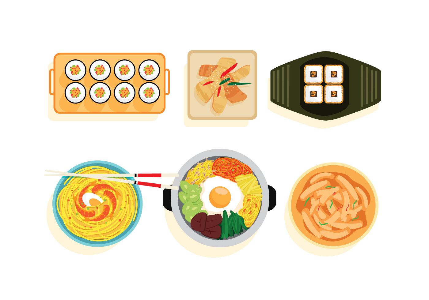 Korean Food Vectors - Download Free Vectors, Clipart ...