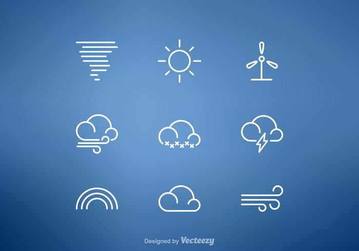 Free Weather Line Vector Icon Set