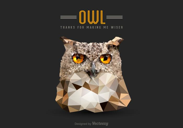 Free Vector Low Poly Owl Head