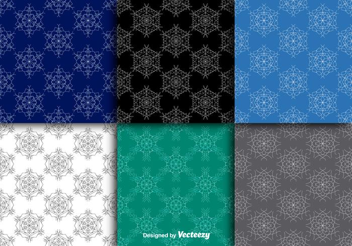 Snowflakes seamless patterns vector