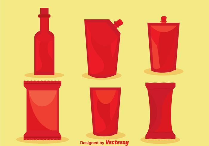 Vector Hot Sauce Packages