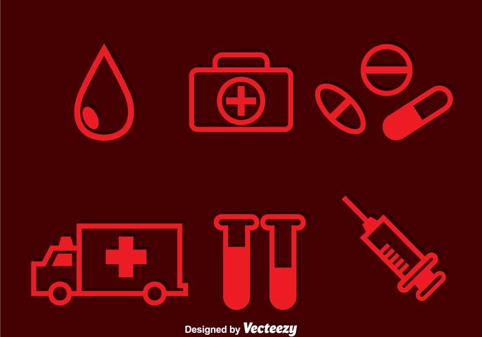 Hospital Red Icons