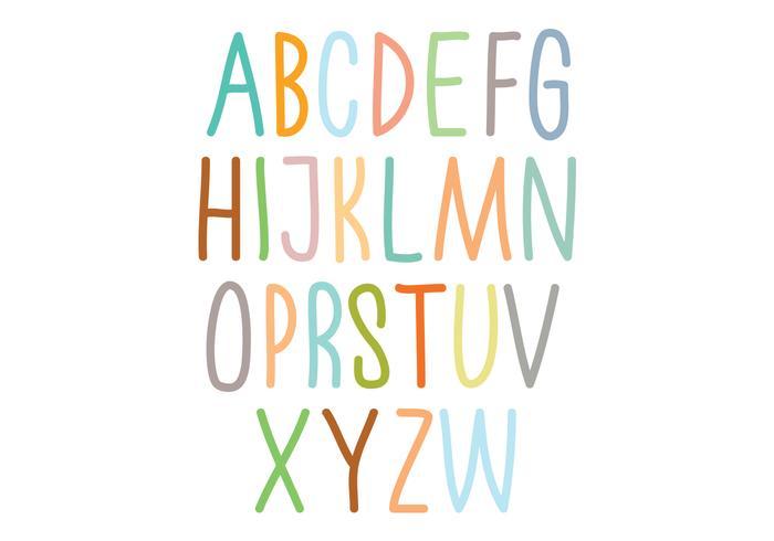 Tipografia colorida do alfabeto