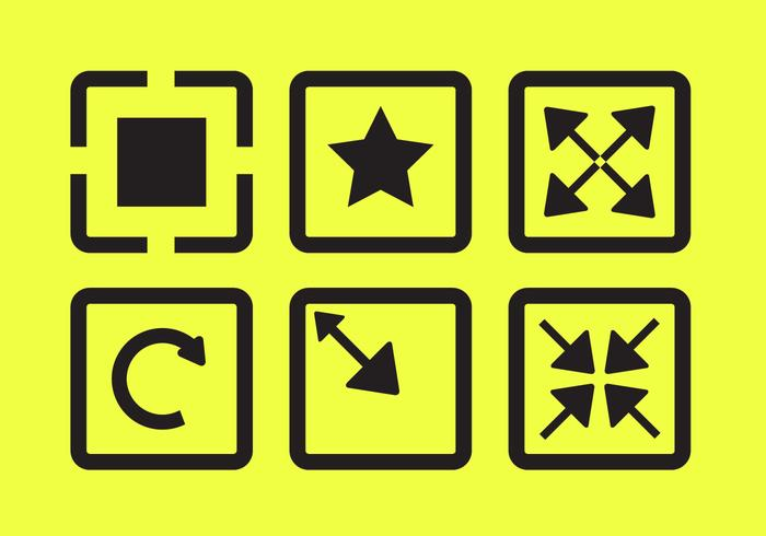 Vector Icons of Full Screen