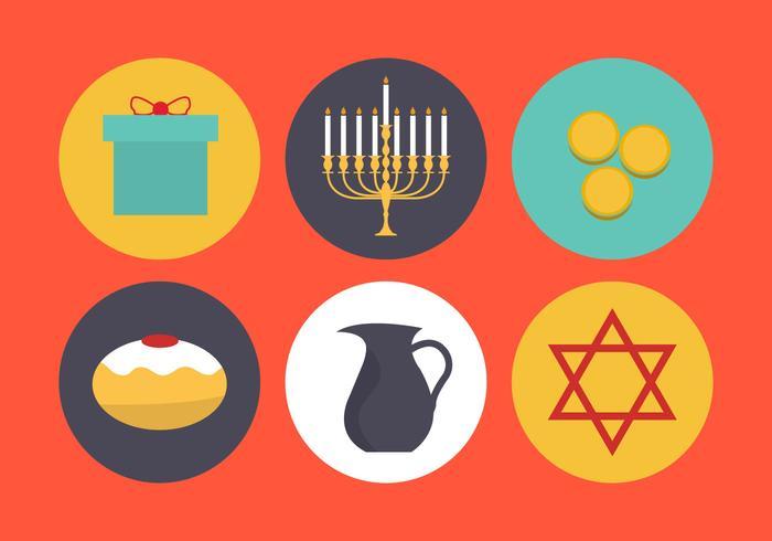 Símbolos vetoriais de Hanukkah