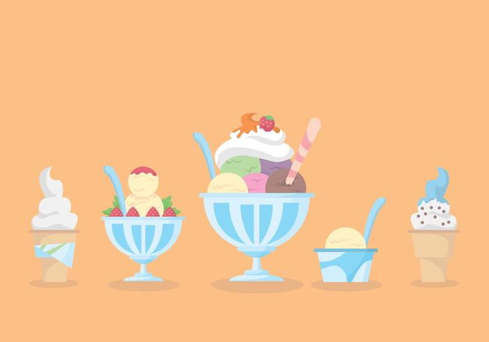 Snow Cone Cup Vector Set