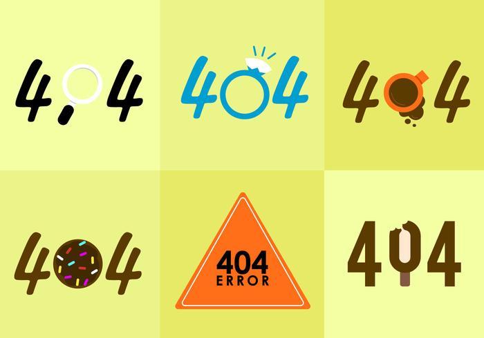 404 Error Vectors.
