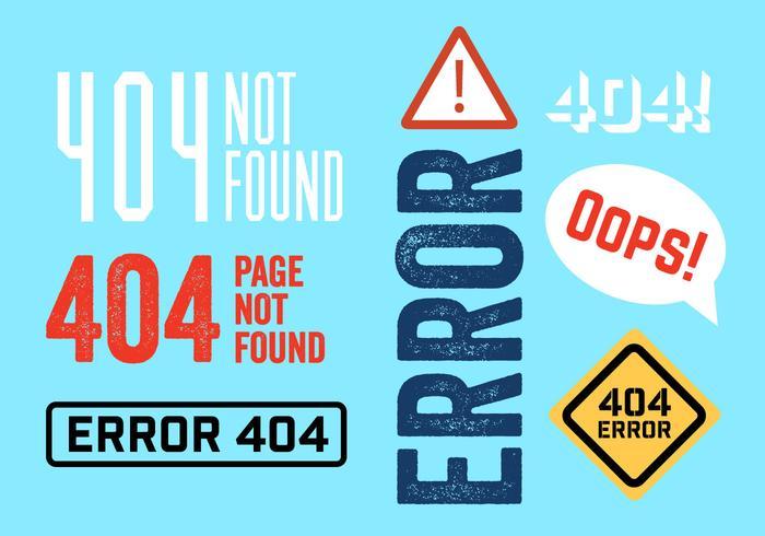 404 Erreurs vecteur