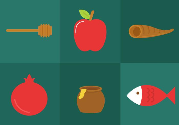 Rosh Hashanah Icon Vectors