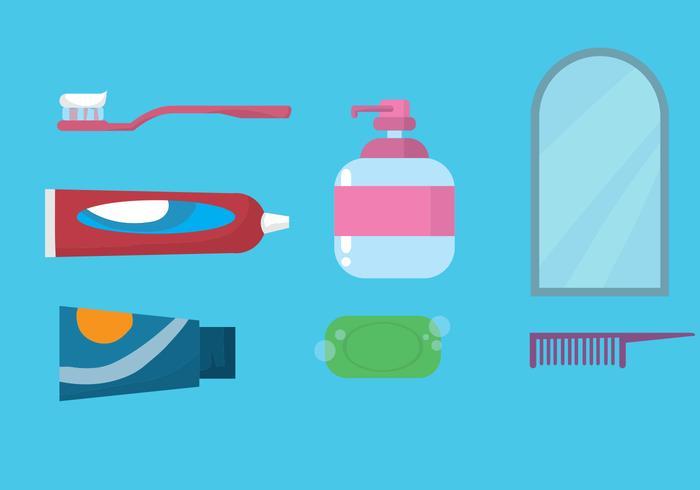 Conjunto de ícones para escovar os dentes