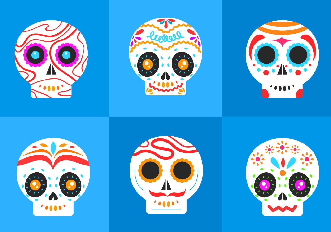 Dia De Los Muertos Skull Free Vector Art