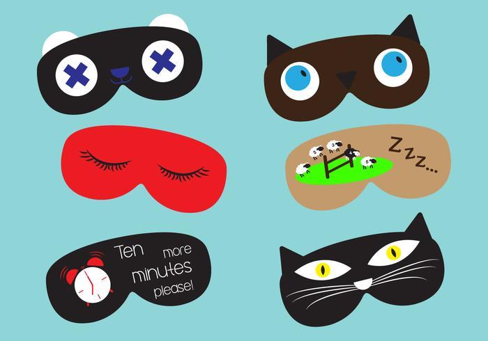 Set of Sleep Masks in Vector
